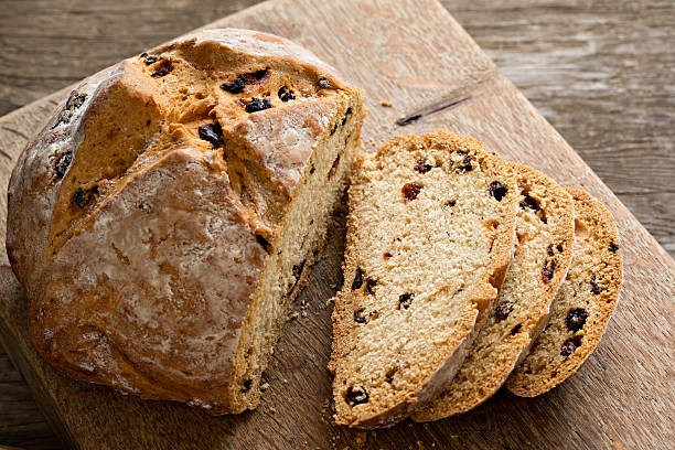 Sliced Irish Soda Bread stock photo