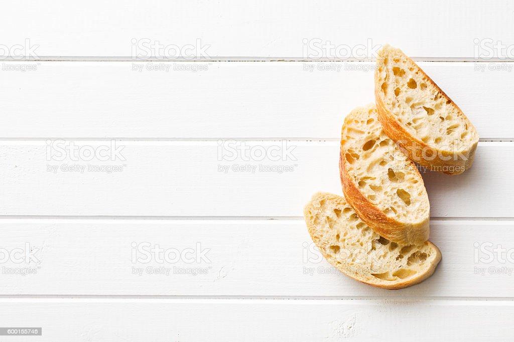 sliced Italian ciabatta - Photo