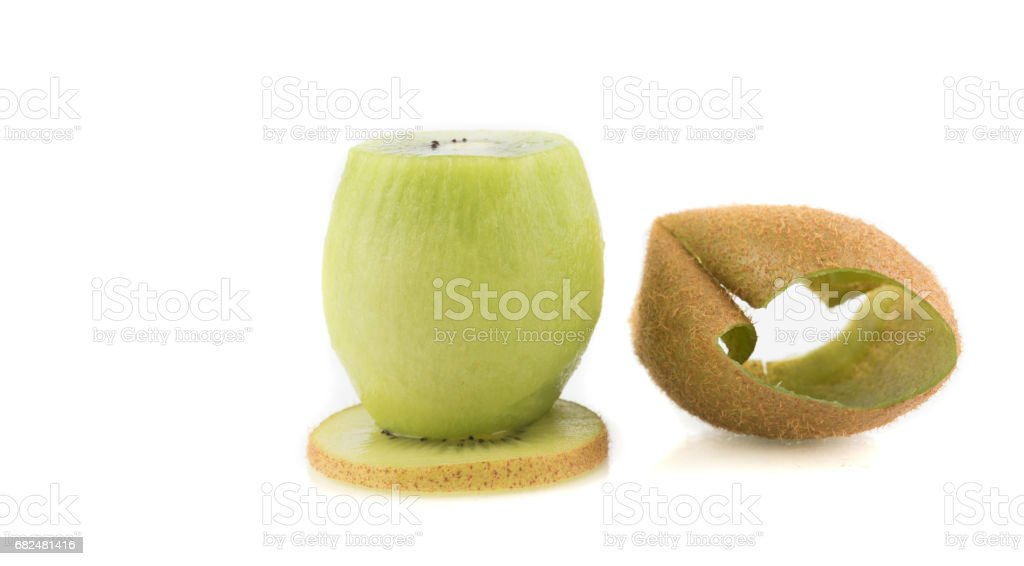 sliced Kiwi fruit isolated on white background cutout royalty-free stock photo
