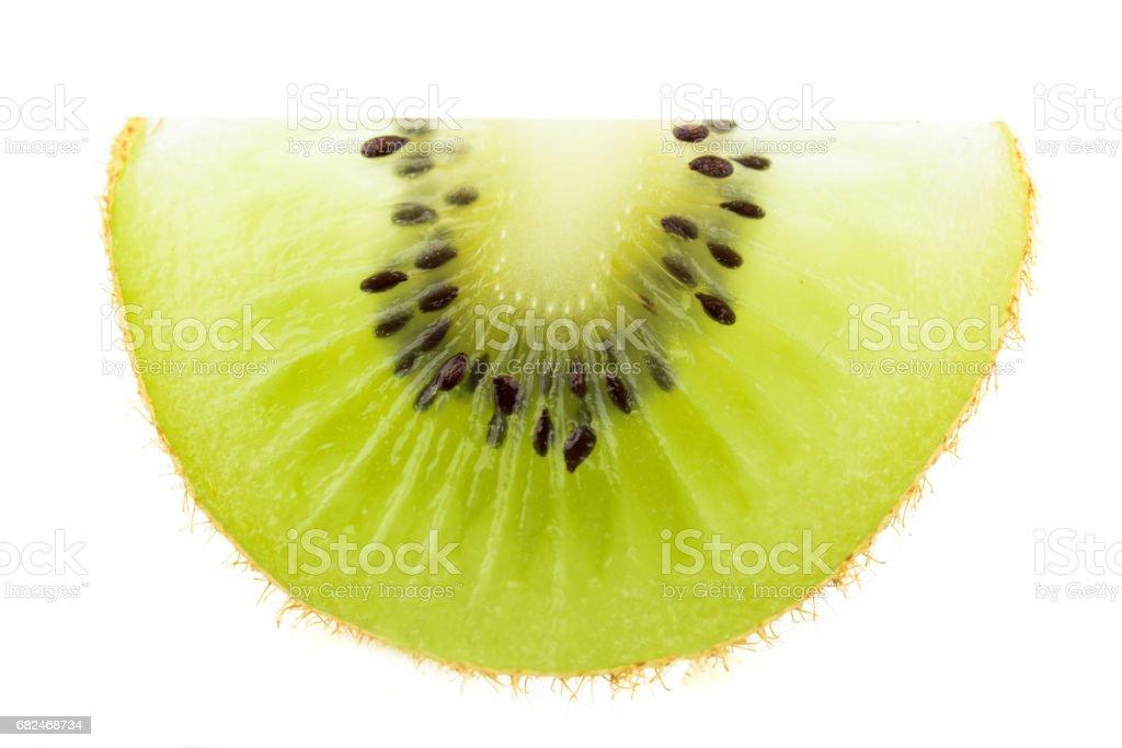 sliced Kiwi fruit isolated on white background royalty-free stock photo