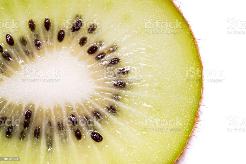 Sliced Kiwi Fruit isolated. zbiór zdjęć royalty-free