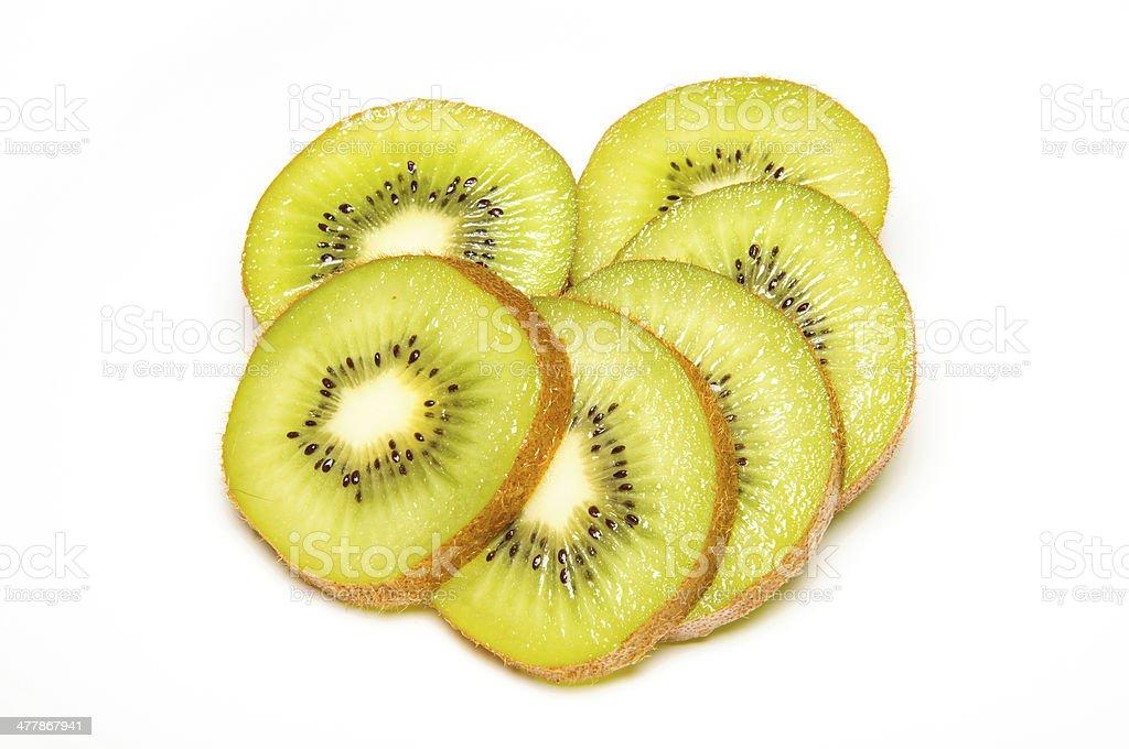 Sliced kiwi fruit royalty-free stock photo