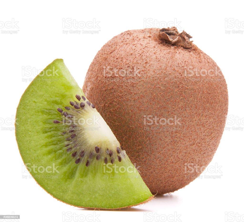 Sliced kiwi fruit segment stock photo
