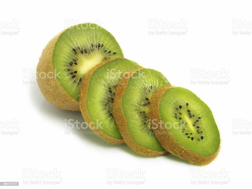 Sliced kiwi royalty free stockfoto
