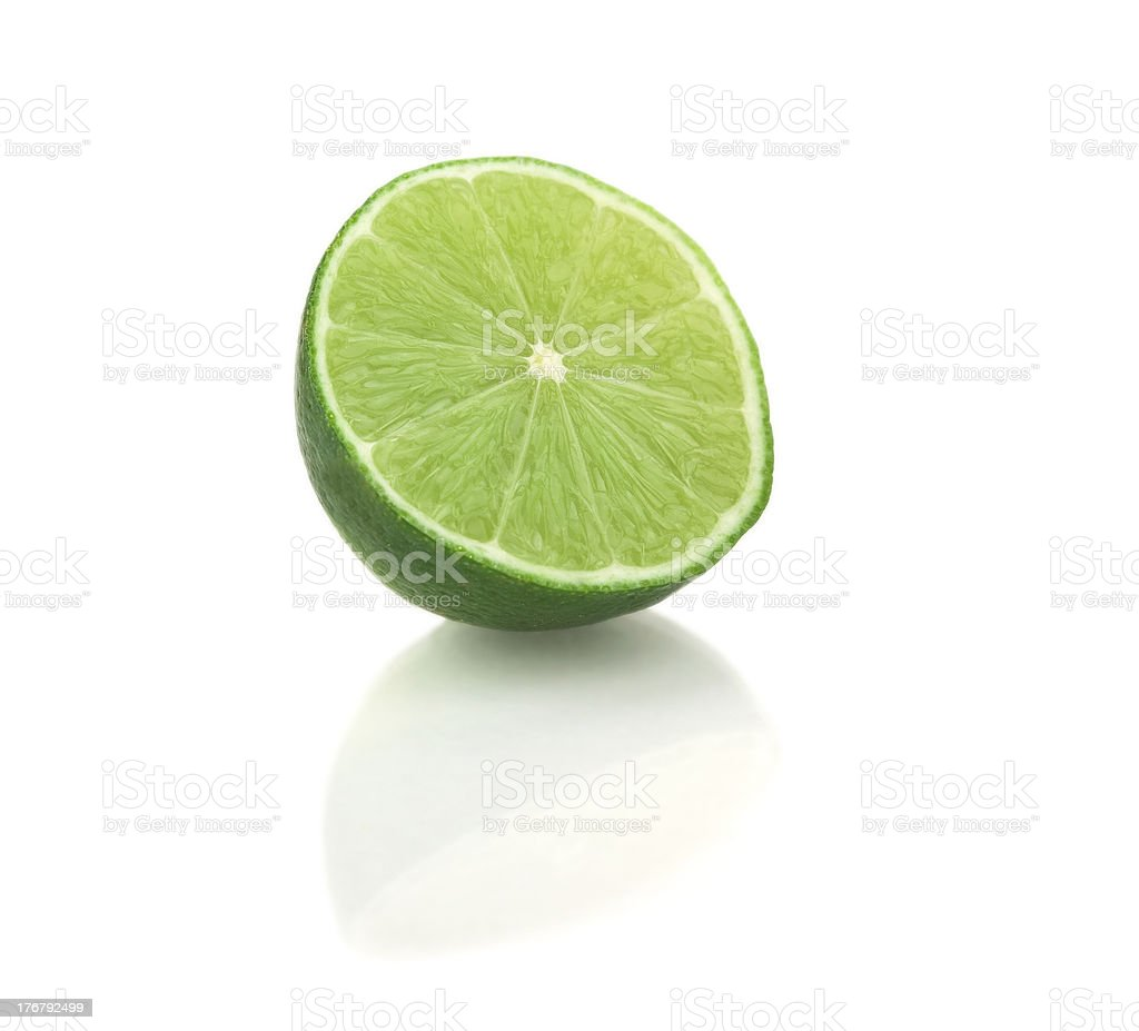 Sliced lime isolated royalty-free stock photo