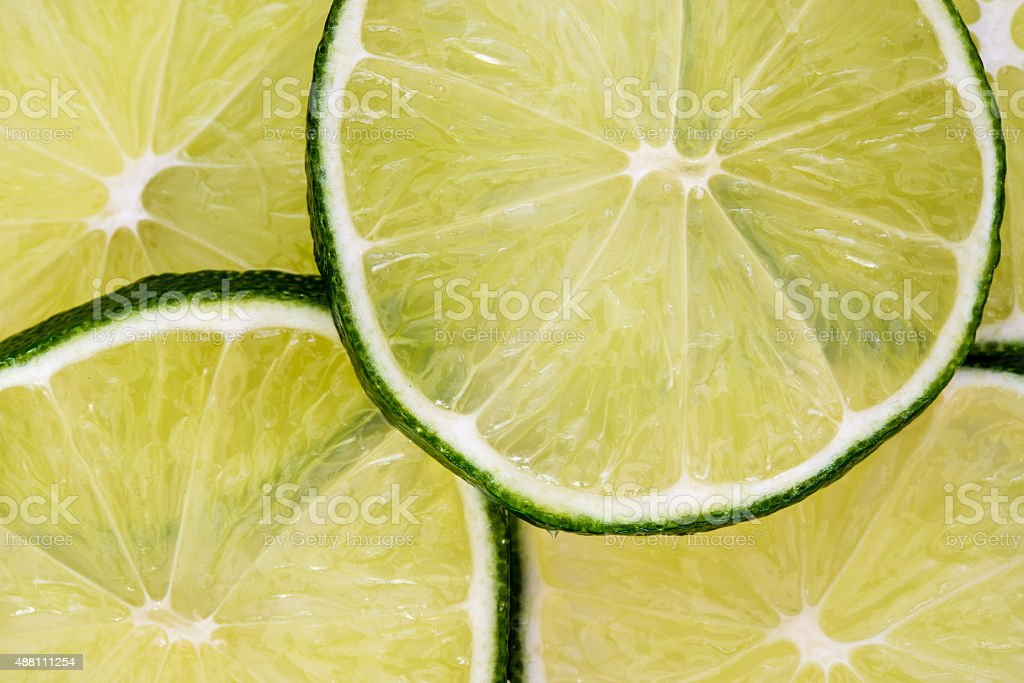 Sliced lime stock photo