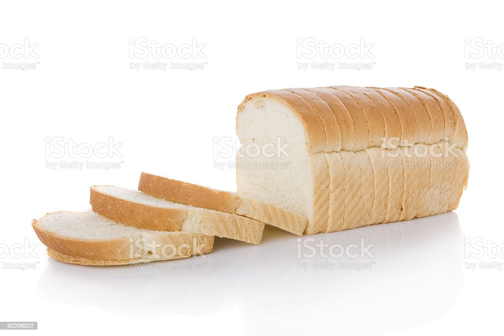 Sliced loaf of bread isolated on white圖像檔