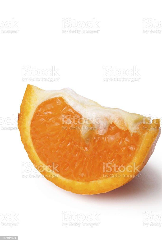 Sliced mandarin royalty-free stock photo