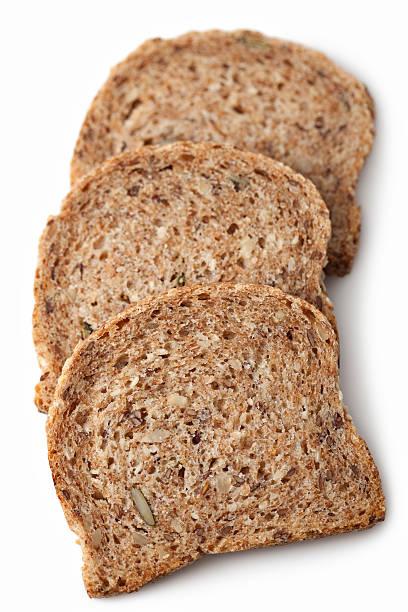 de pan en rebanadas - pan multicereales fotografías e imágenes de stock