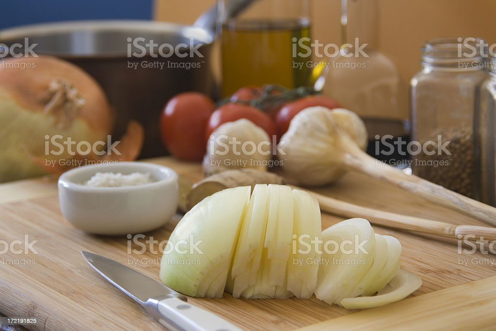 Sliced Onion Hz royalty-free stock photo