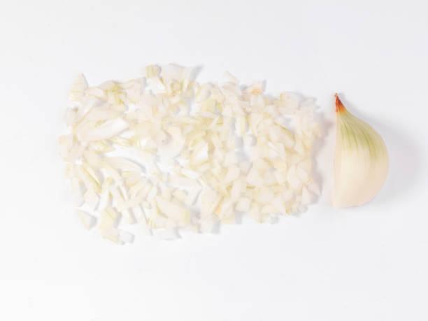 sliced onion stock photo