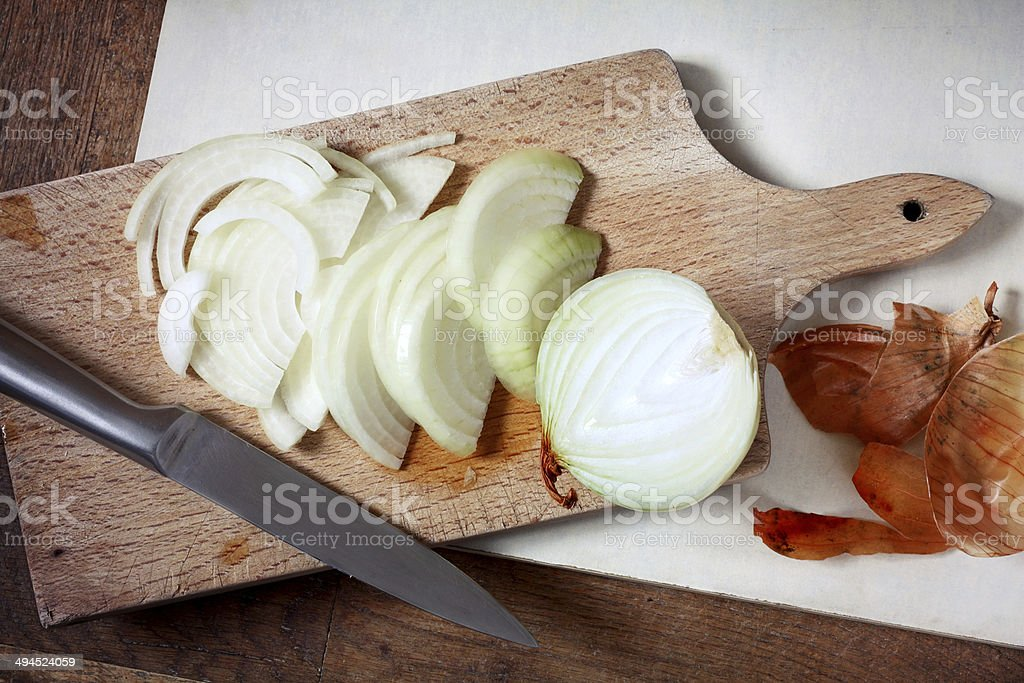 Sliced onion stock photo