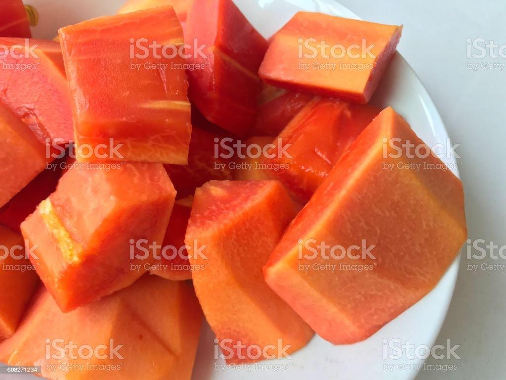 Sliced papaya foto stock royalty-free