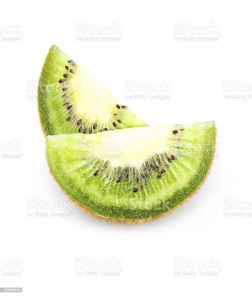 Sliced Part of Kiwi Fruits Isolated royalty-free stock photo