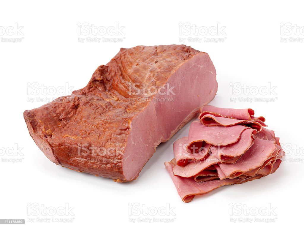 Sliced Pastrami stock photo