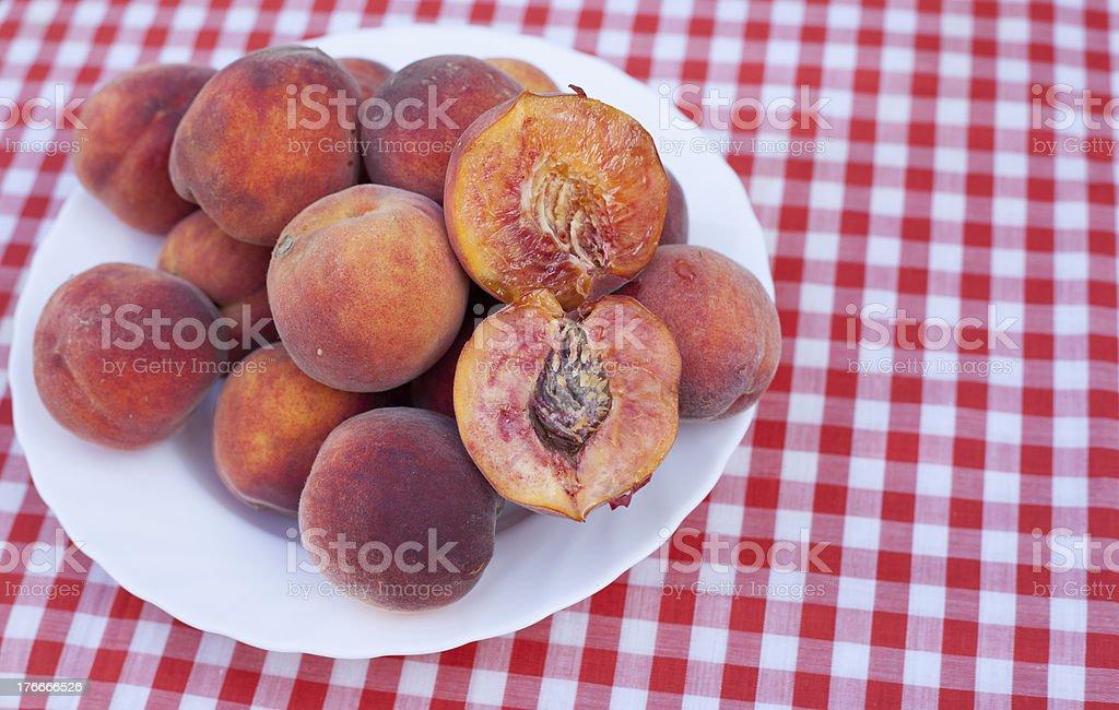 Sliced Peach royalty-free stock photo