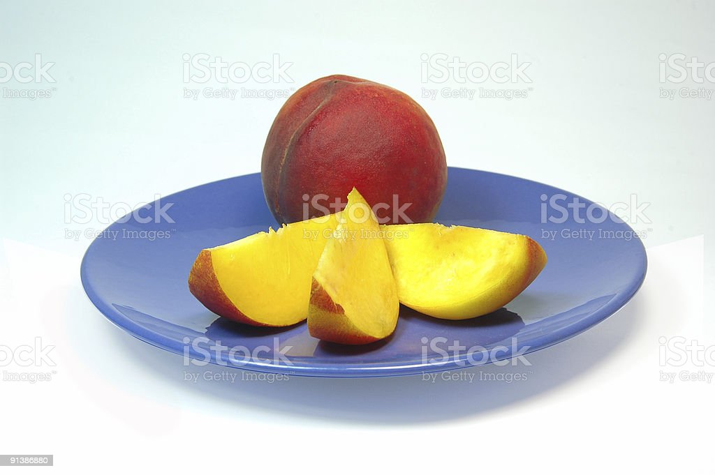 sliced peaches royalty-free stock photo