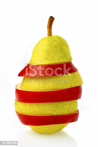 California apple pear or Nashi isolated on white