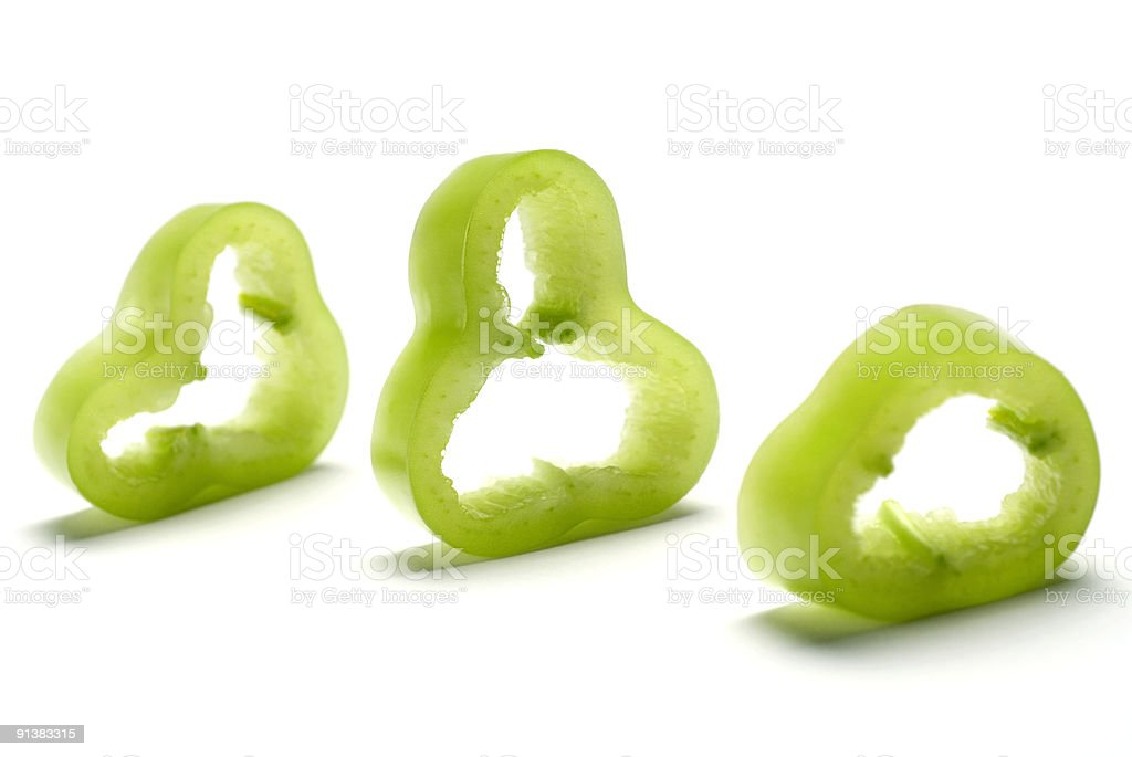 Sliced Pepper royalty-free stock photo