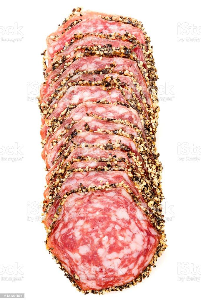 Scheiben verschärft salami – Foto