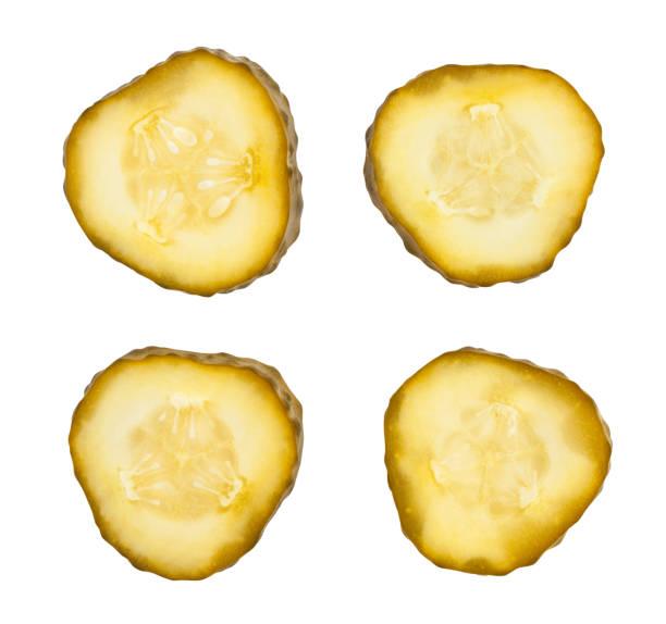 sliced pickle stock photo