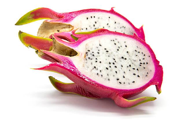scheiben pitahayas (drachenfrucht - kaktusfrucht stock-fotos und bilder