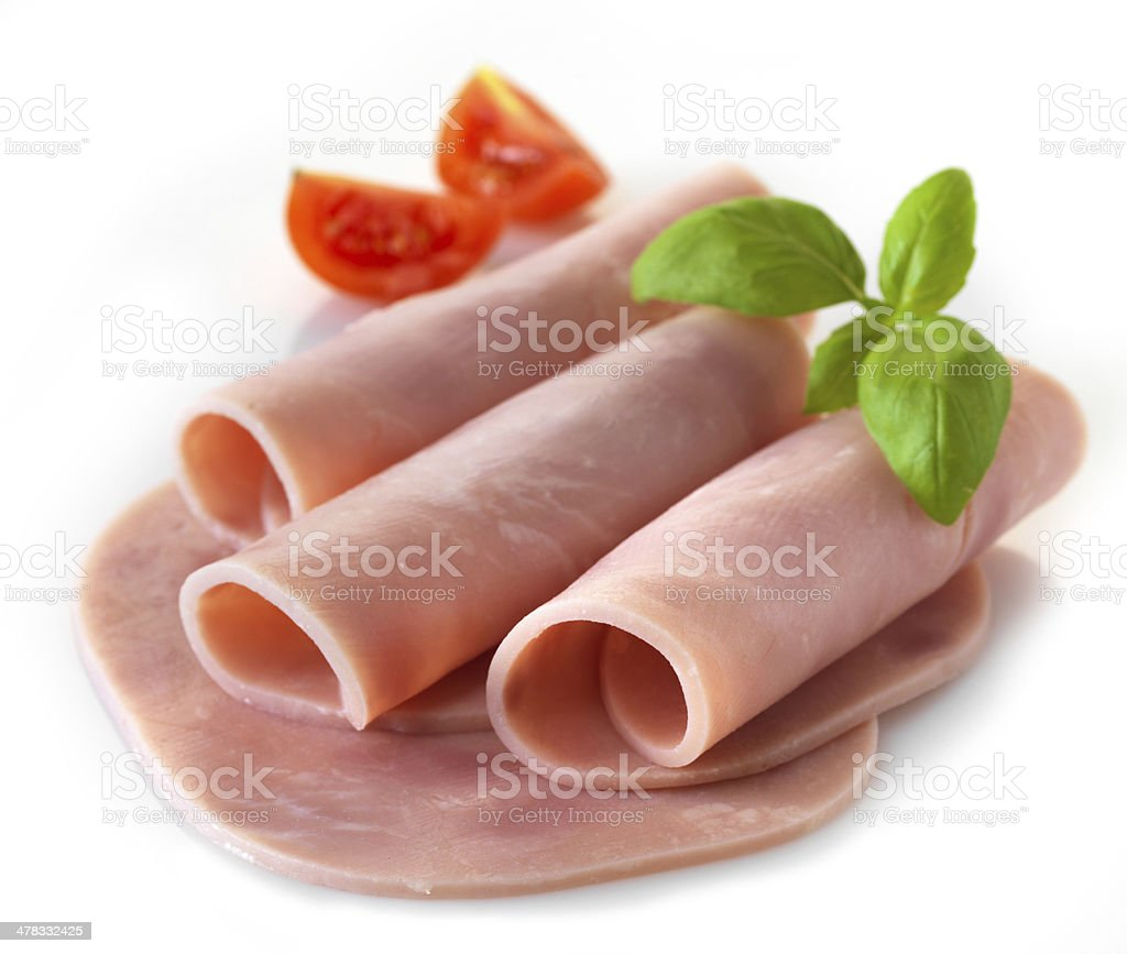 sliced pork ham royalty-free stock photo