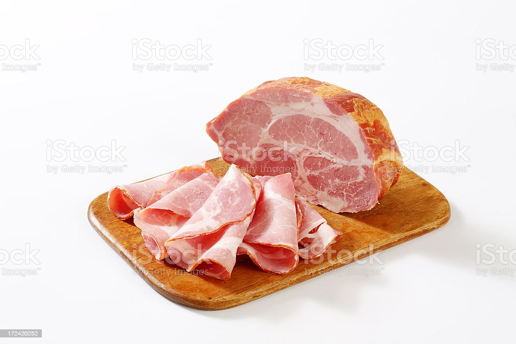 sliced pork meat royalty-free stock photo