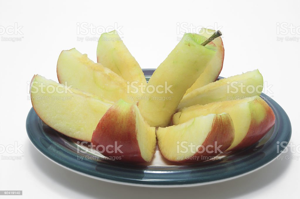 Sliced Red Apple stock photo
