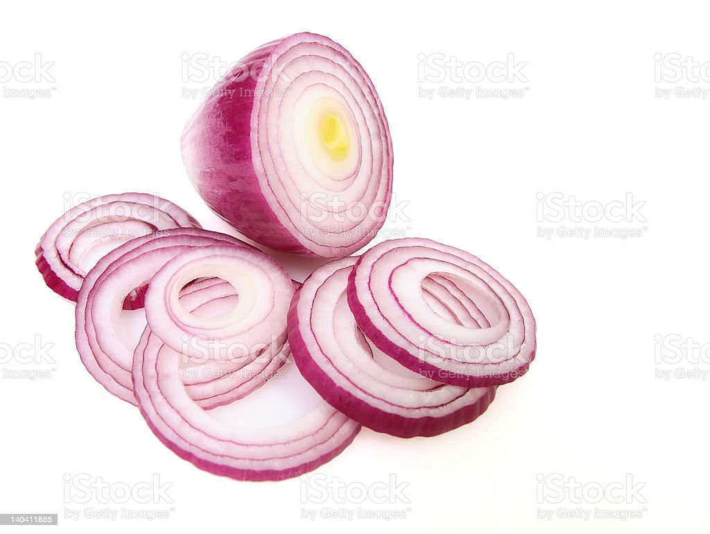 Sliced Red Onion stock photo