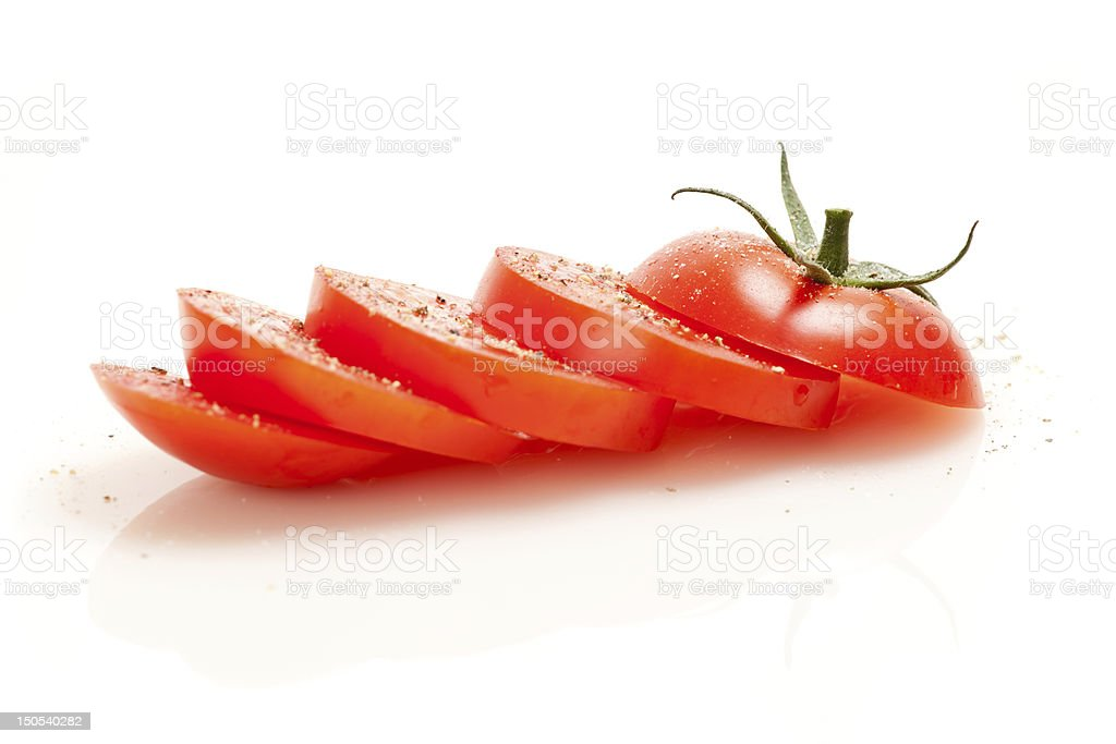Sliced red tomato stock photo