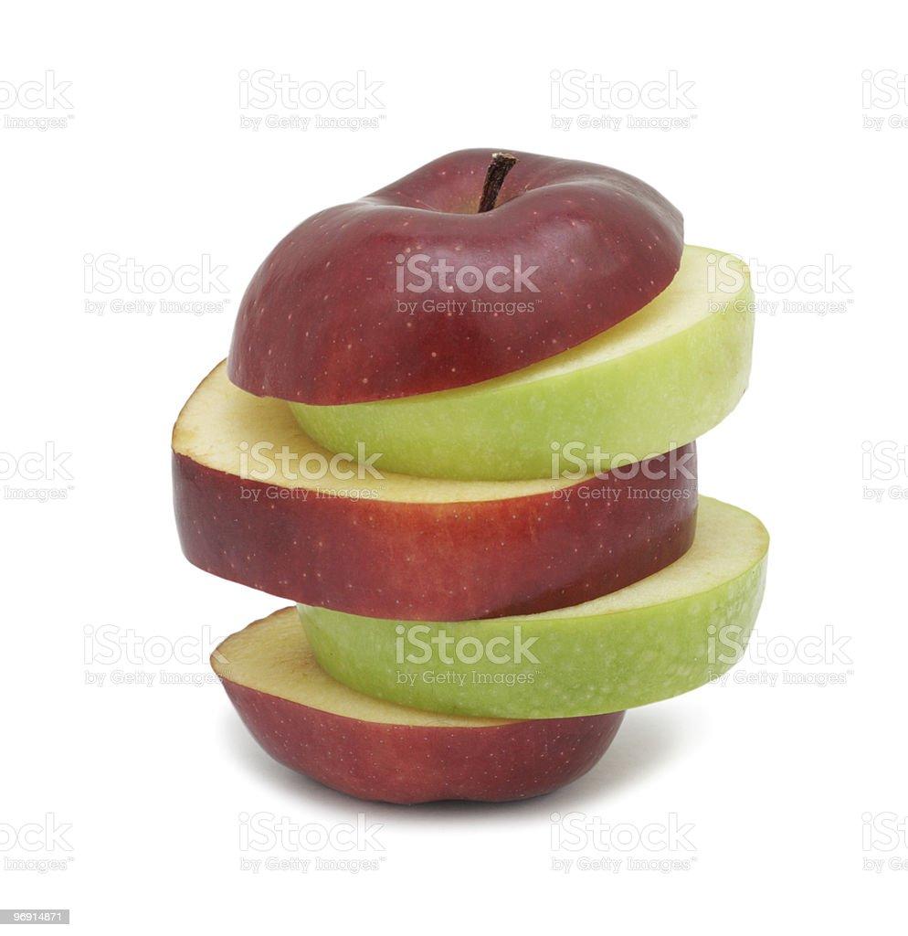 Sliced ripe apple, isolated royalty-free stock photo