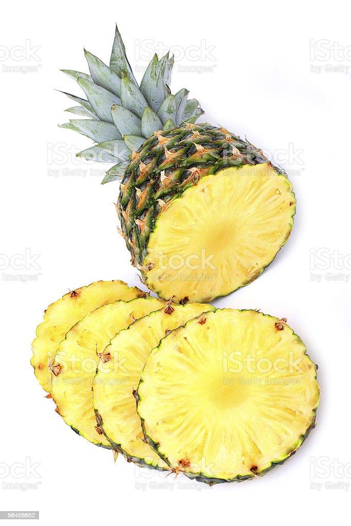 Sliced ripe pineapple royalty-free stock photo