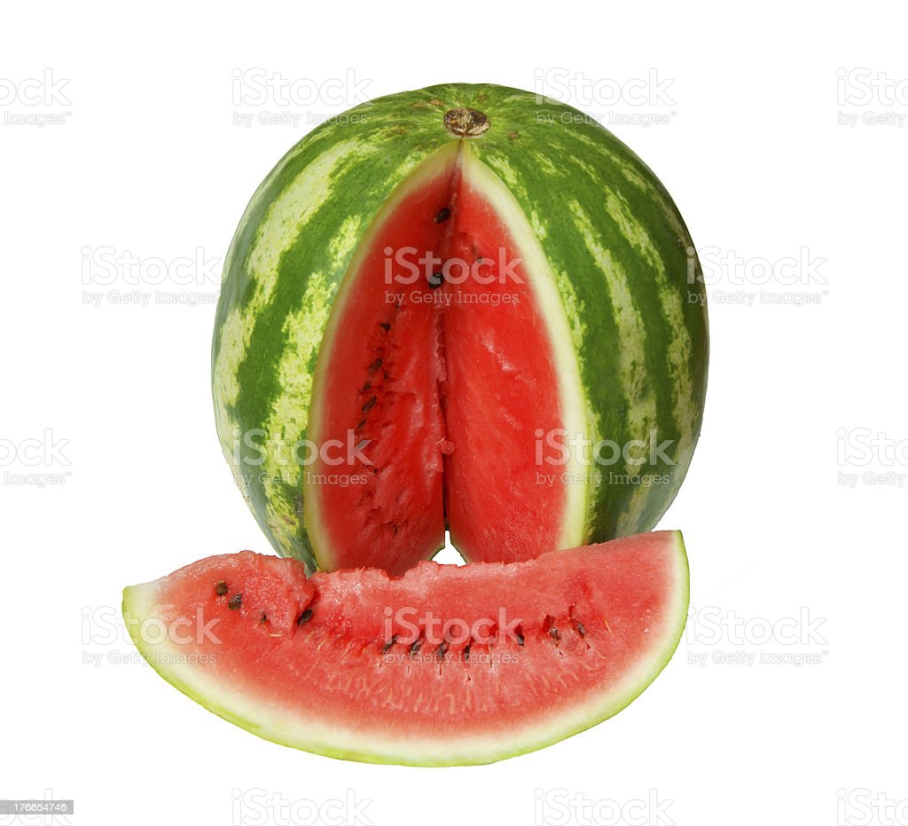 Sliced ripe watermelon royalty-free stock photo