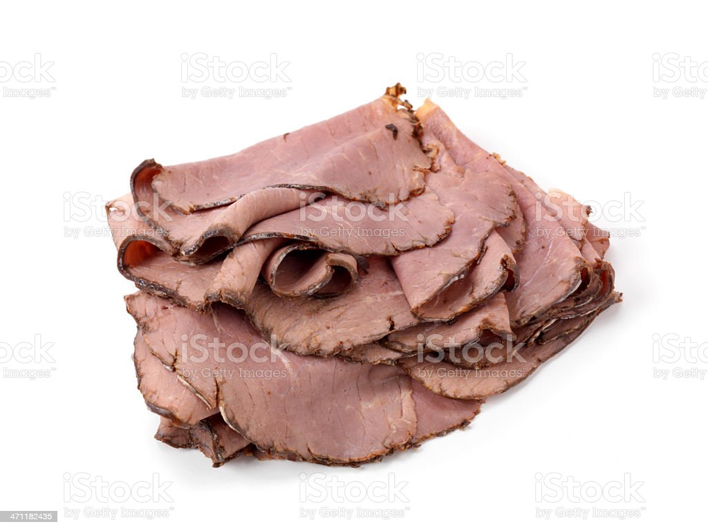 Sliced Roast Beef, Deli Meat stock photo