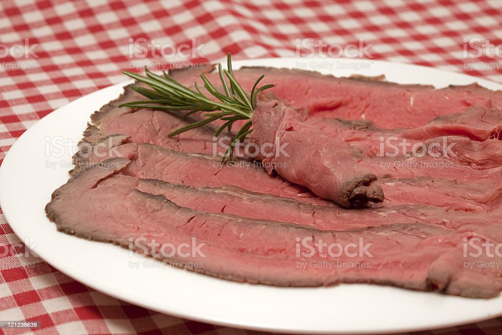 sliced roast beef royalty-free stock photo