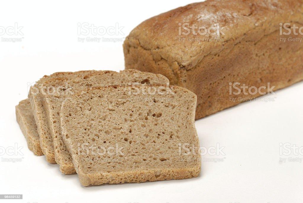 Russo a fette di pane isolato su sfondo bianco foto stock royalty-free