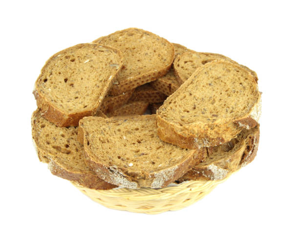 sliced rye bread - pone stock photos and pictures
