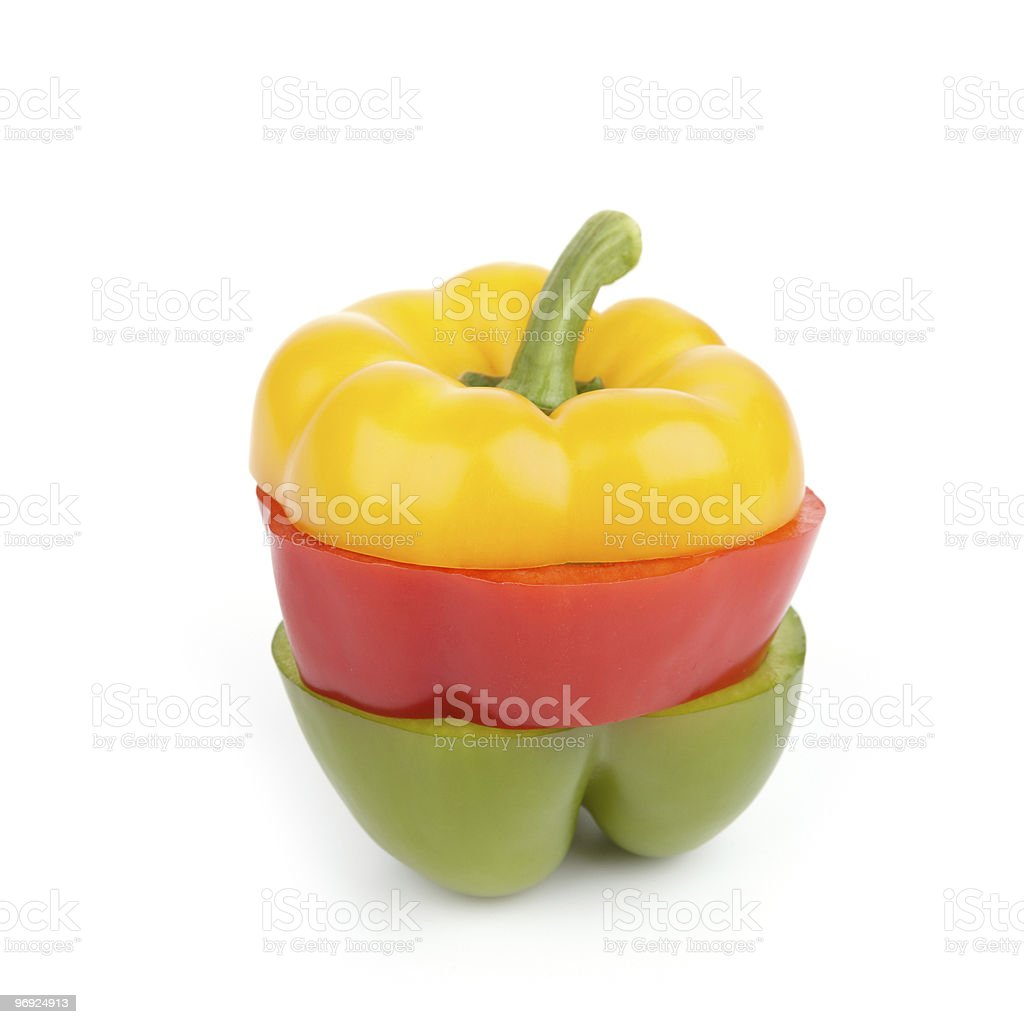 Sliced Single Bell Pepper royalty-free stock photo