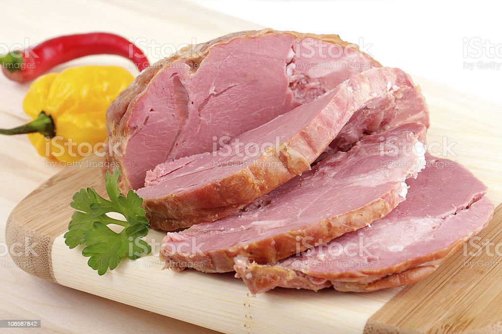 sliced smoked meat royalty-free stock photo