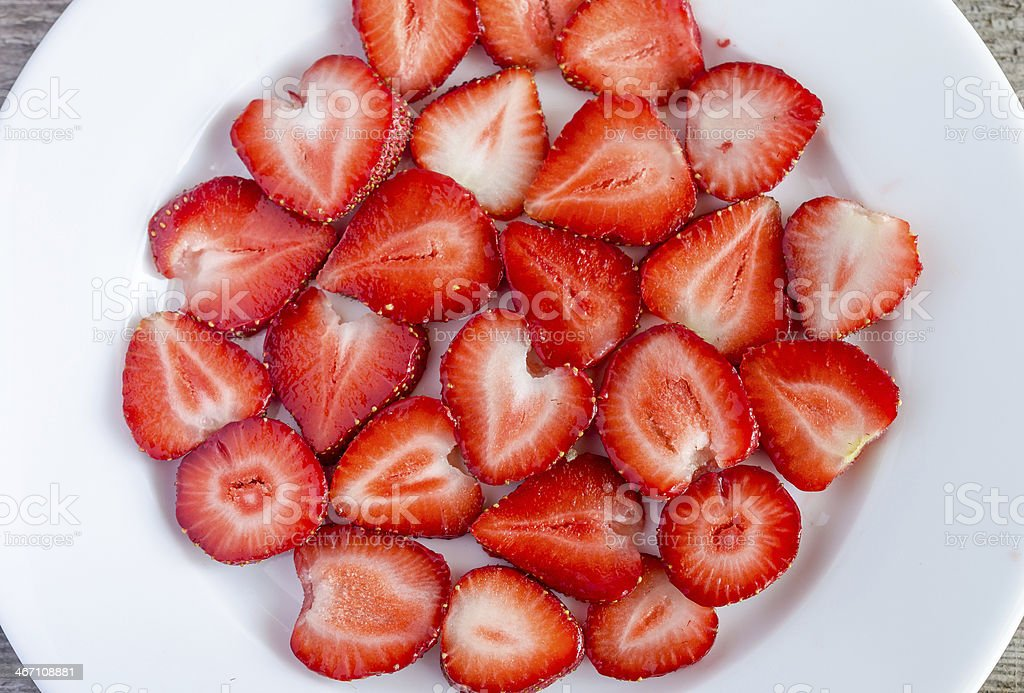 Sliced Strawberries - Royalty-free Backgrounds Stock Photo