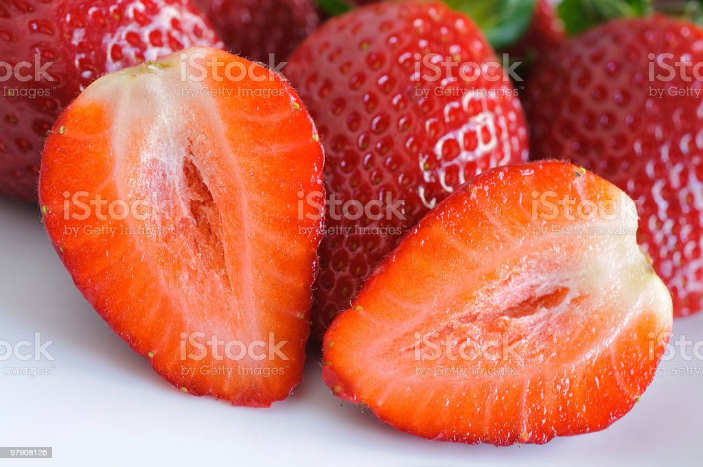 sliced strawberry royalty-free stock photo