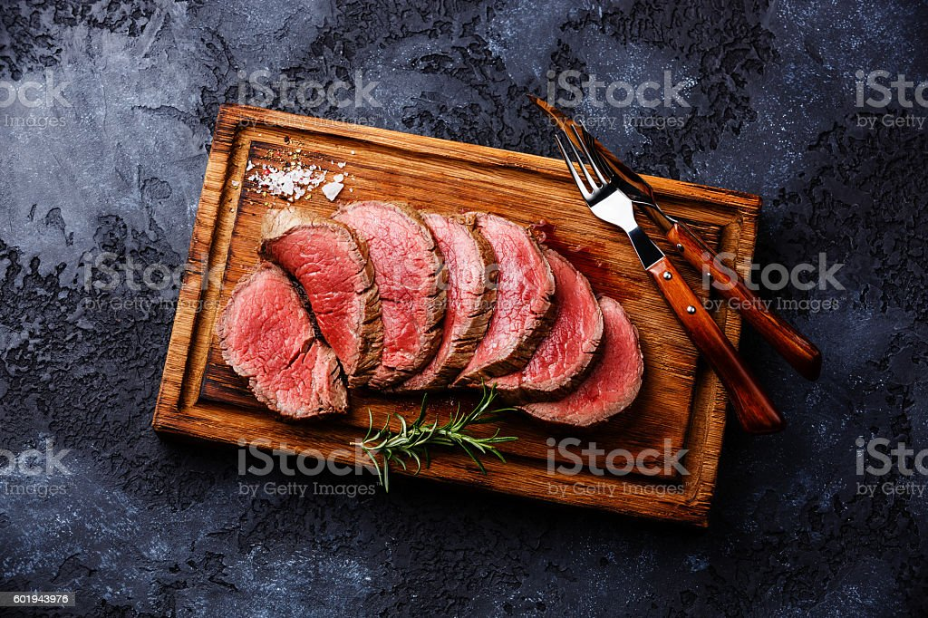 Sliced tenderloin Steak roastbeef – Foto