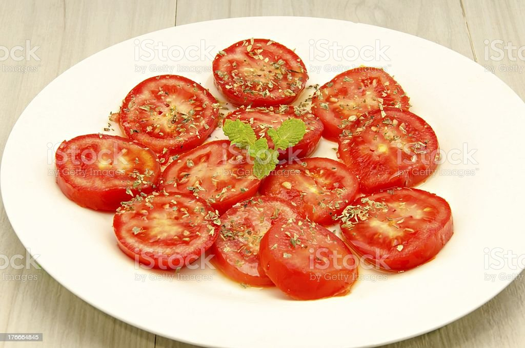 Sliced tomatoes royalty-free stock photo