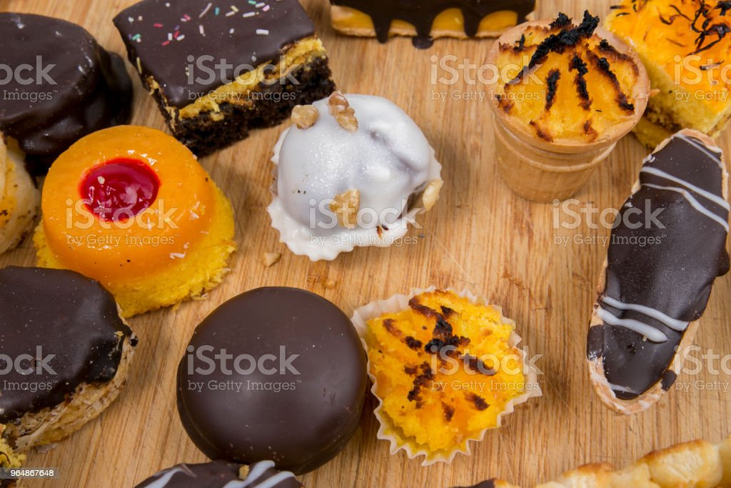 Sliced traditional Portuguese Christmas cake, made with candied fruits royalty-free stock photo