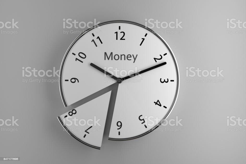 Reloj de pared de rebanado - foto de stock