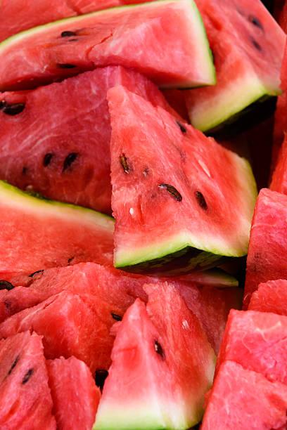 Sliced watermelon stock photo