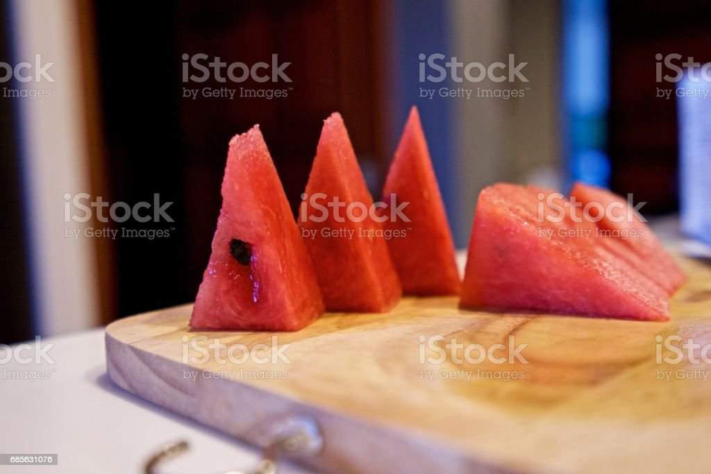 Sliced watermelon. royalty-free 스톡 사진