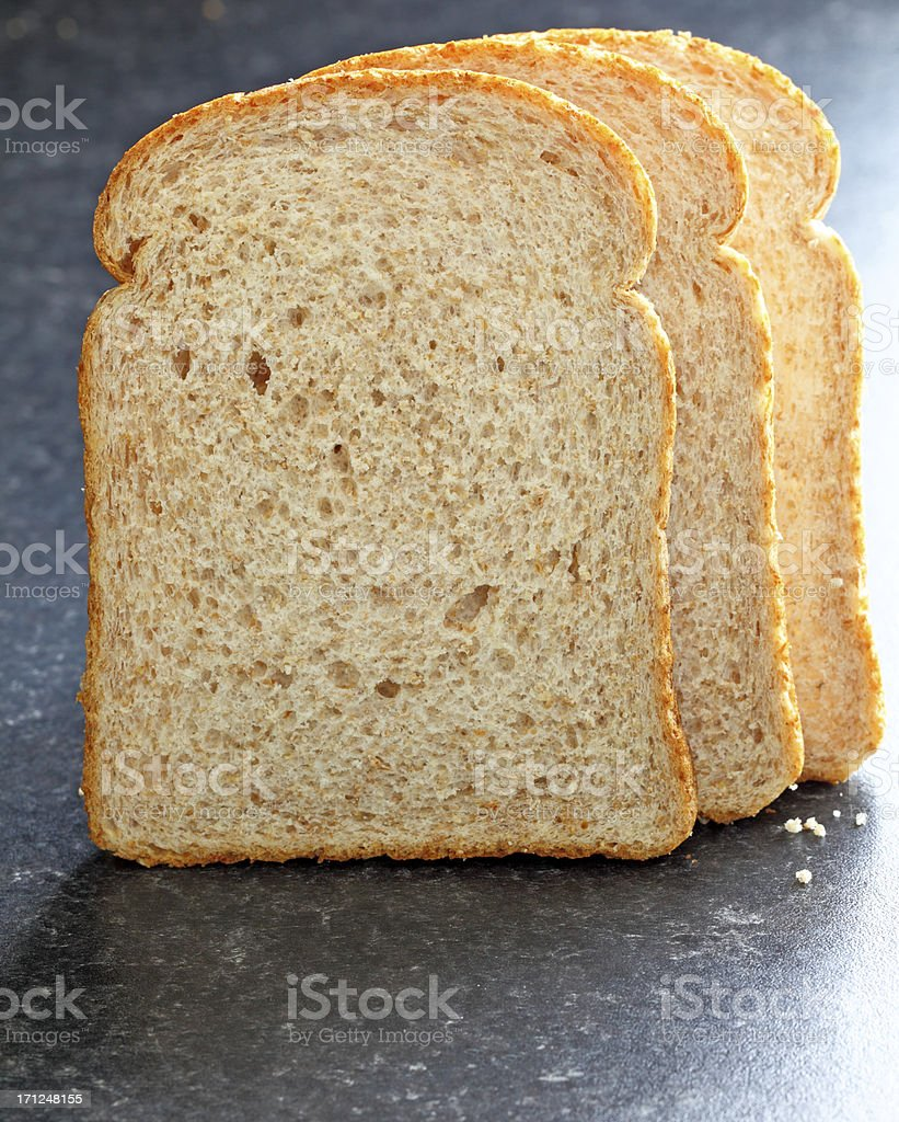 sliced wholemeal bread royalty-free stock photo