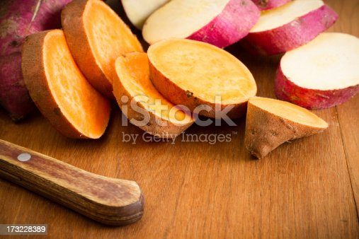 istock Sliced Yellow and White Fleshed Yams 173228389